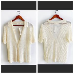 Urban Outfitters Sweaters - 🆕NWT Urban Outfitters Collared Crochet Cardigan